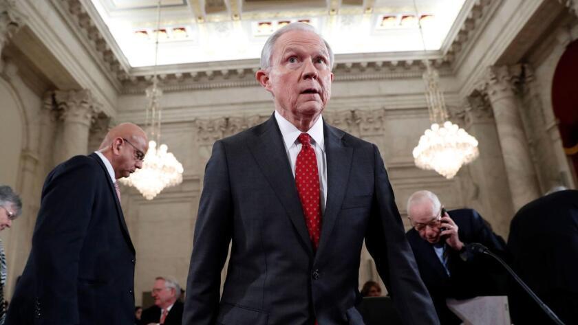 Foto de Jeff Sessions, el nuevo fiscal general.