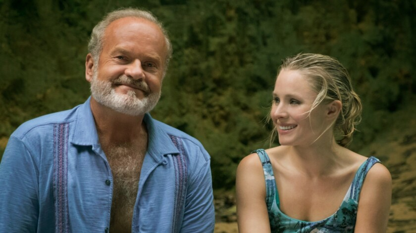 """Kelsey Grammer and Kristen Bell in a scene from """"Like Father,"""" in which they play an estranged father and daughter."""