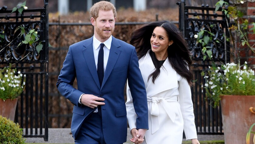 Prince Harry and Meghan Markle in London on Nov. 27.
