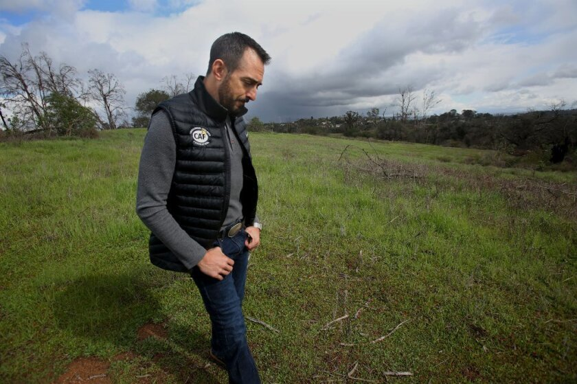 Elfin Forest resident JP Theberge walks in one of the pastoral areas eyed for possible development in Eden Valley.