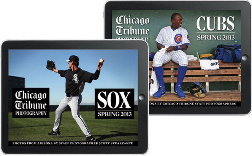 Cubs and Sox Spring issues of iPad photo magazine released