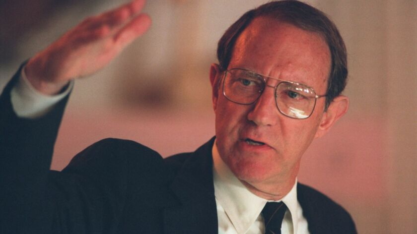 Former U.S. Rep. Anthony Beilenson (D-Woodland Hills) in a 1996 file photo.