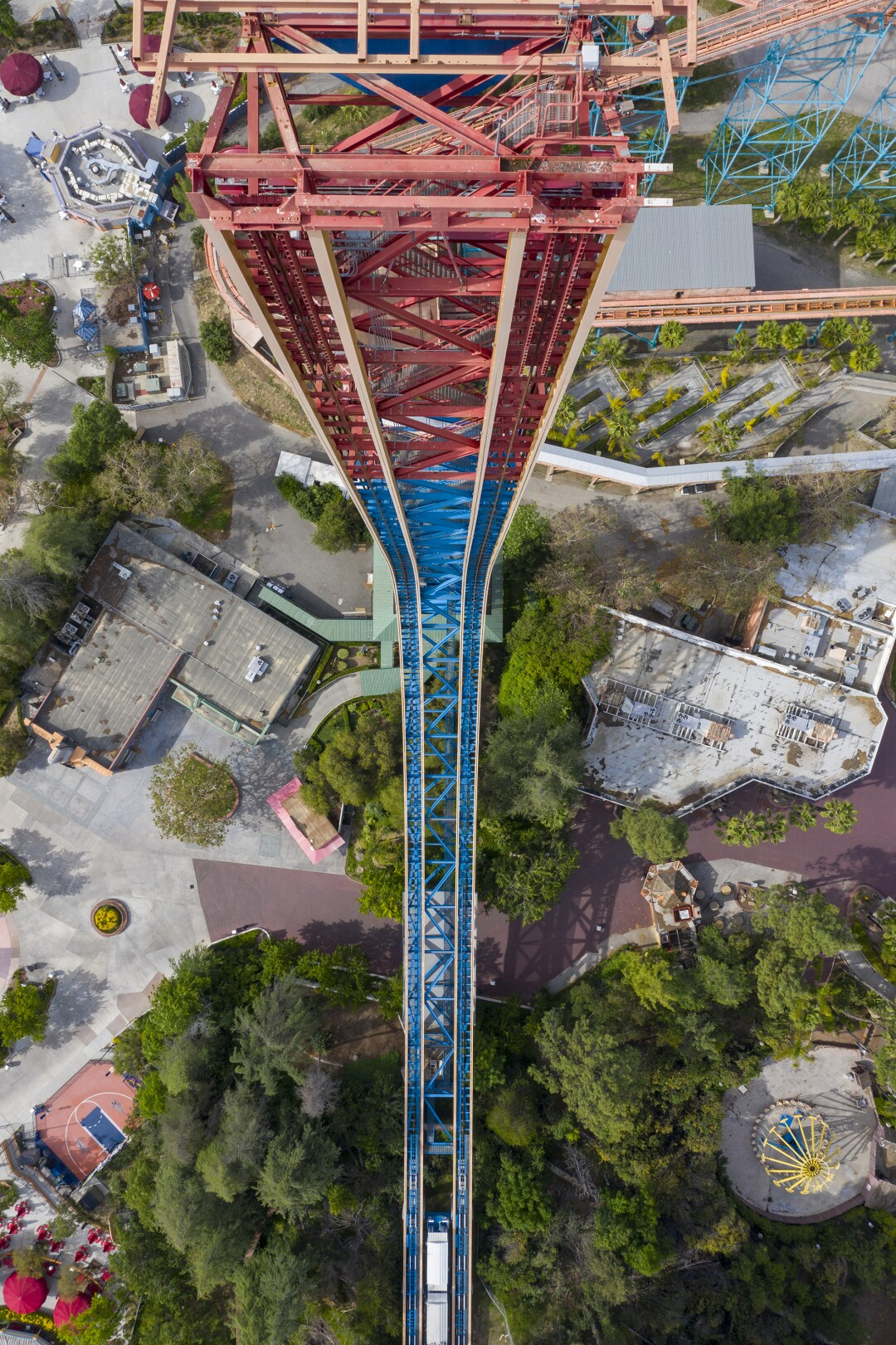 Six Flags Magic Mountain vu du ciel