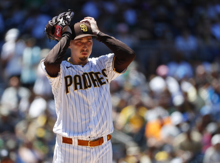 Padres pitcher Blake Snell gave up seven runs to the Oakland Athletics at Petco Park on Wednesday July 28, 2021.