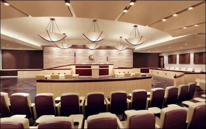 Whittier Law School opened a practice courtroom this month where students can participate in and observe mock trials. They hope California's cut-plagued court system will host authentic court proceedings in the space.