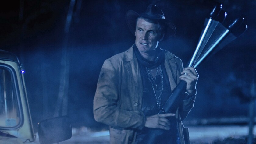 "Dolph Lundgren in the film ""Don't Kill It."""