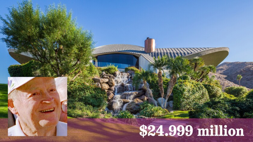 The Palm Springs home designed by renowned Modern architect John Lautner for comedian Bob Hope and his wife, Dolores, has been reduced in price to $24.999 million.