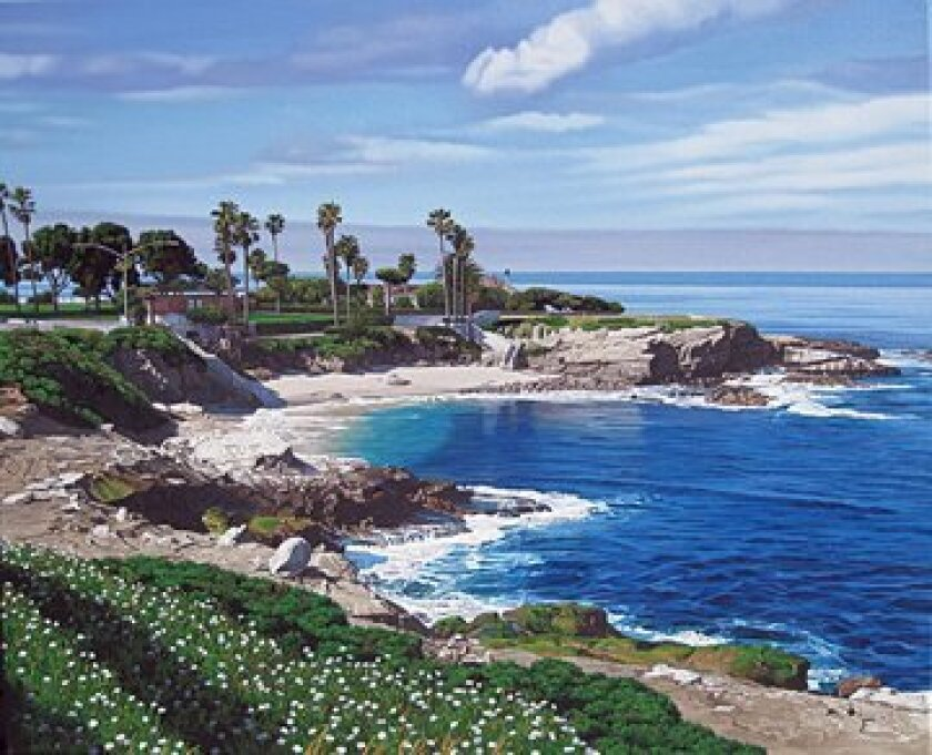 Danny Day's painting of the La Jolla Cove