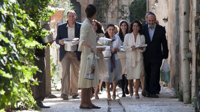 """A scene from """"The Women's Balcony."""""""