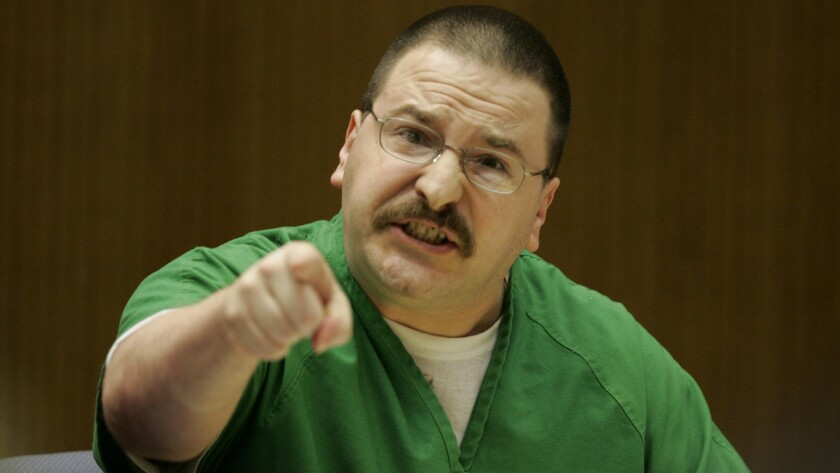 July 7, 2005 file photo of a defiant Eric Anderson admonishing the jury that convicted him of murder. (Nancee E. Lewis/The San Diego Union-Tribune)