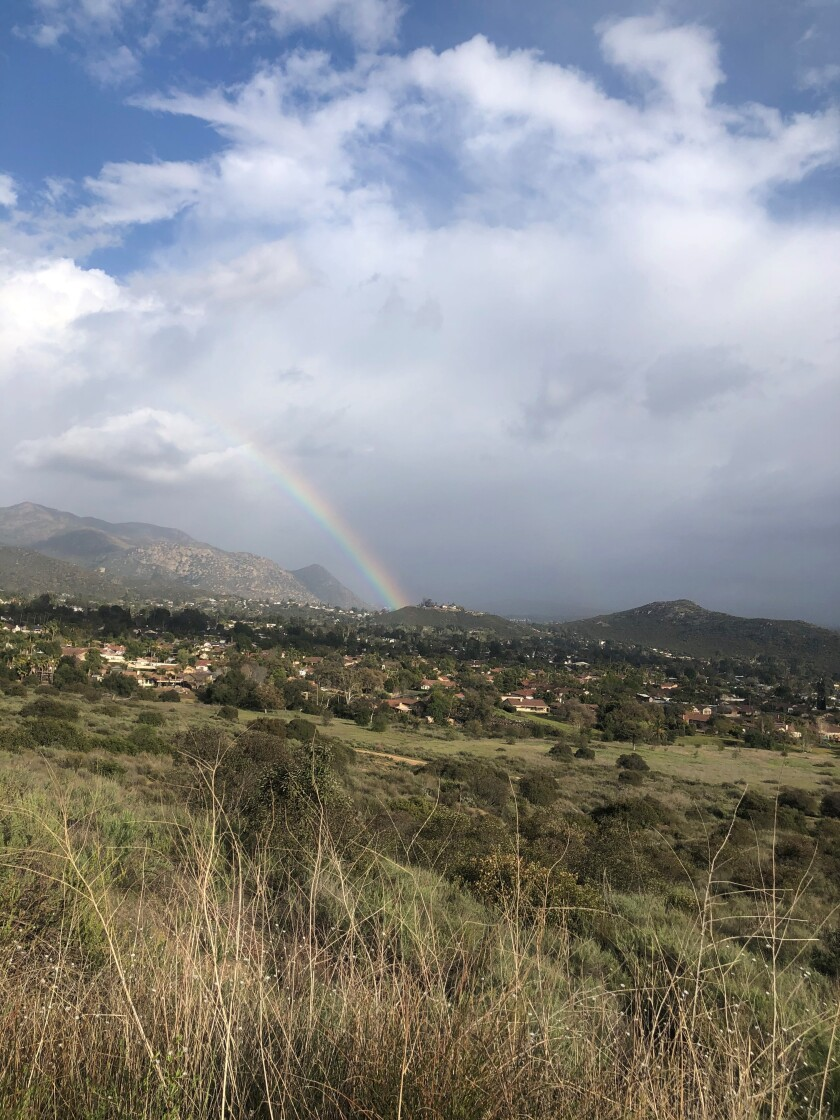Ramona resident Michael Baldauf captured this rainbow image March 23 while hiking with his family at the Simon preserve.
