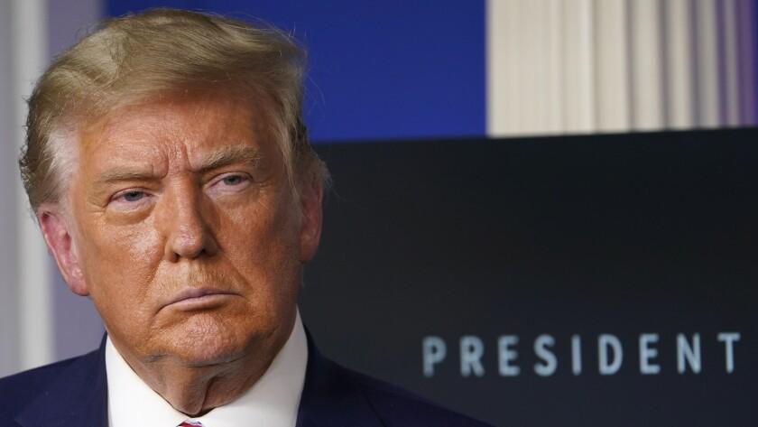 En esta foto del 20 de noviembre del 2020, el presidente estadounidense Donald Trump