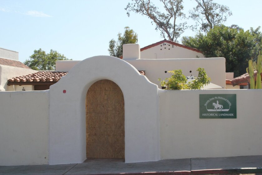 The new entrance to the Rancho Santa Fe Historical Society. Photos by Karen Billing