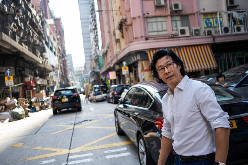 Han Dongfang in Hong Kong