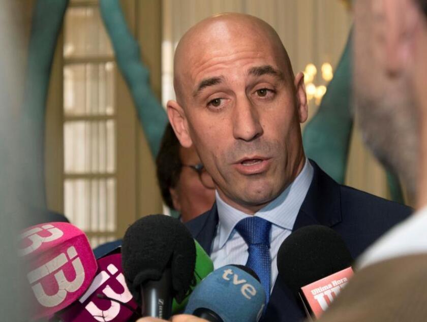 El presidente de la Real Federación Española de Fútbol (RFEF), Ramón Rubiales. EFE/Archivo
