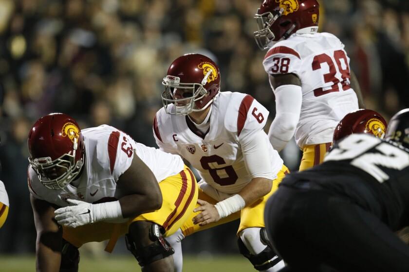 USC quarterback Cody Kessler prepares for the snap during a game against Colorado on Nov. 13.