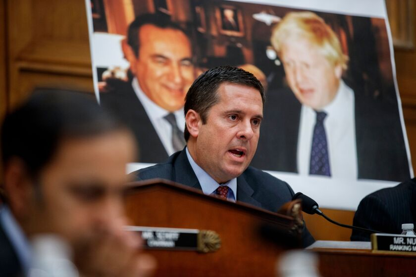 Rep. Devin Nunes (R-Tulare) questions former special counsel Robert S. Mueller III.