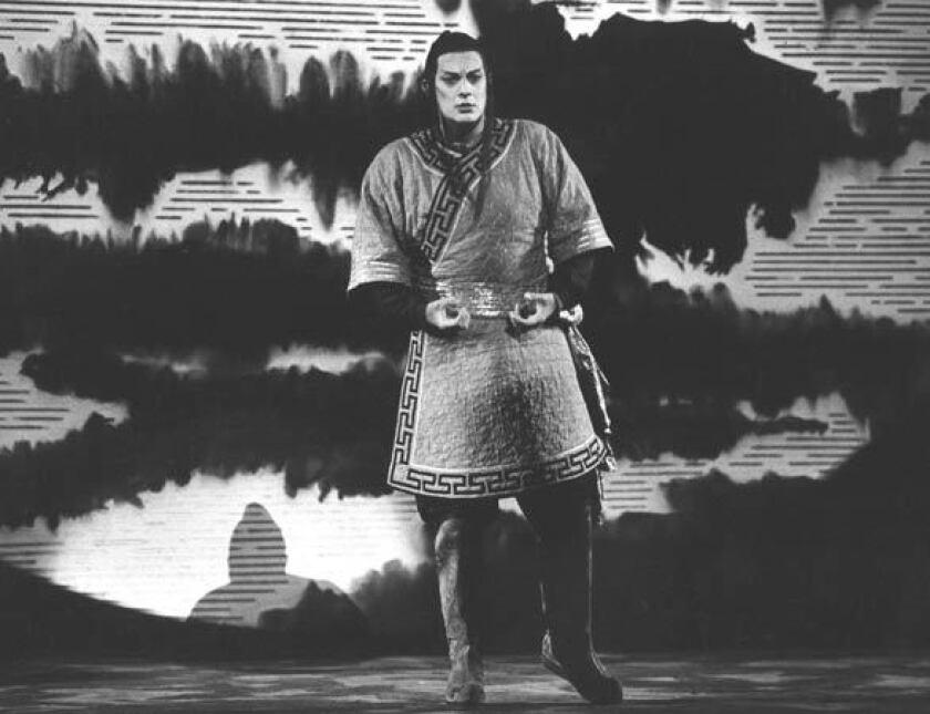"Placido Domingo in a 1984 dress rehearsal of the Royal Opera's ""Turandot."""
