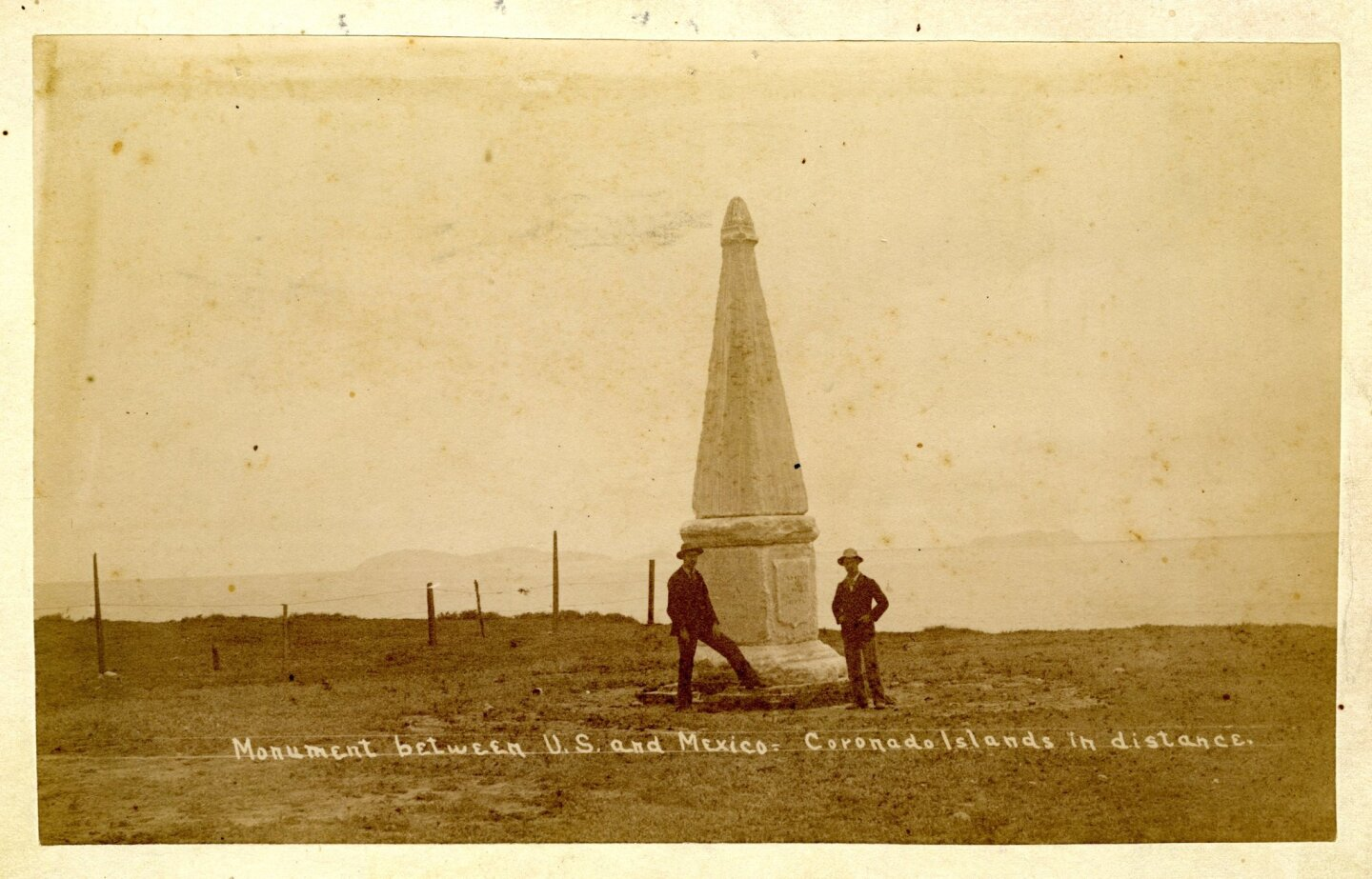 In 1851, a marble monument was erected to mark the border between United States and Mexico.