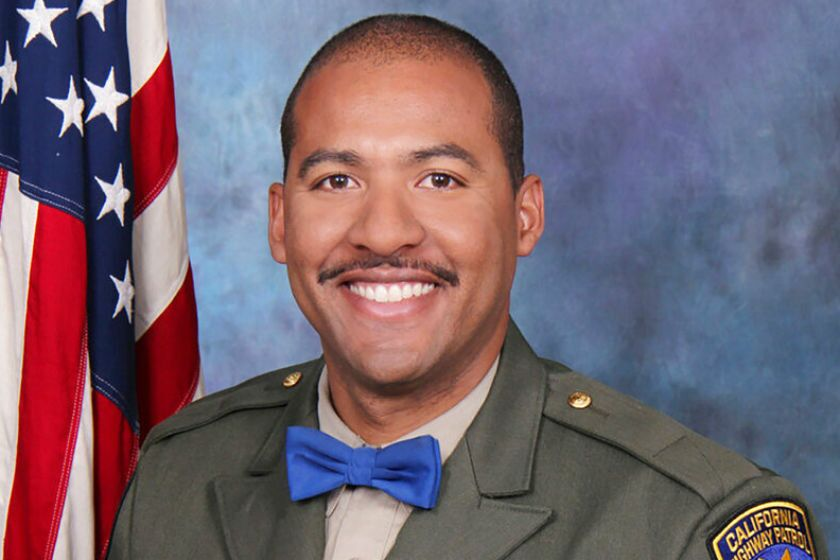 The public is invited to the 10 a.m. service for CHP Officer Andre Moye at Harvest Christian Fellowship in Riverside on Tuesday.