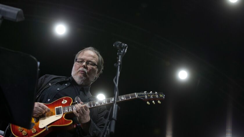 INDIO, CALIF. -- FRIDAY, APRIL 10, 2015: Steely Dan's Walter Becker on stage at the Coachella Valley