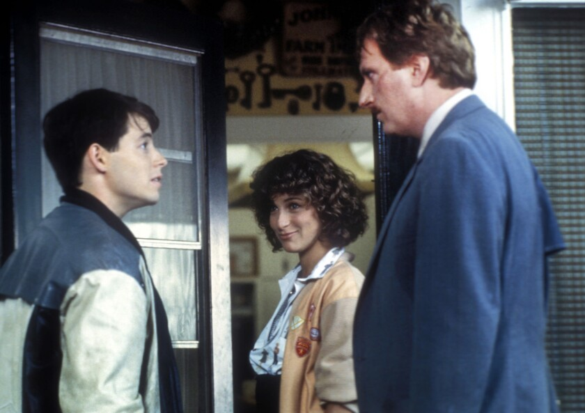 """Matthew Broderick, pictured here with Jennifer Grey and Jeffrey Jones in 1986's """"Ferris Bueller's Day Off."""""""