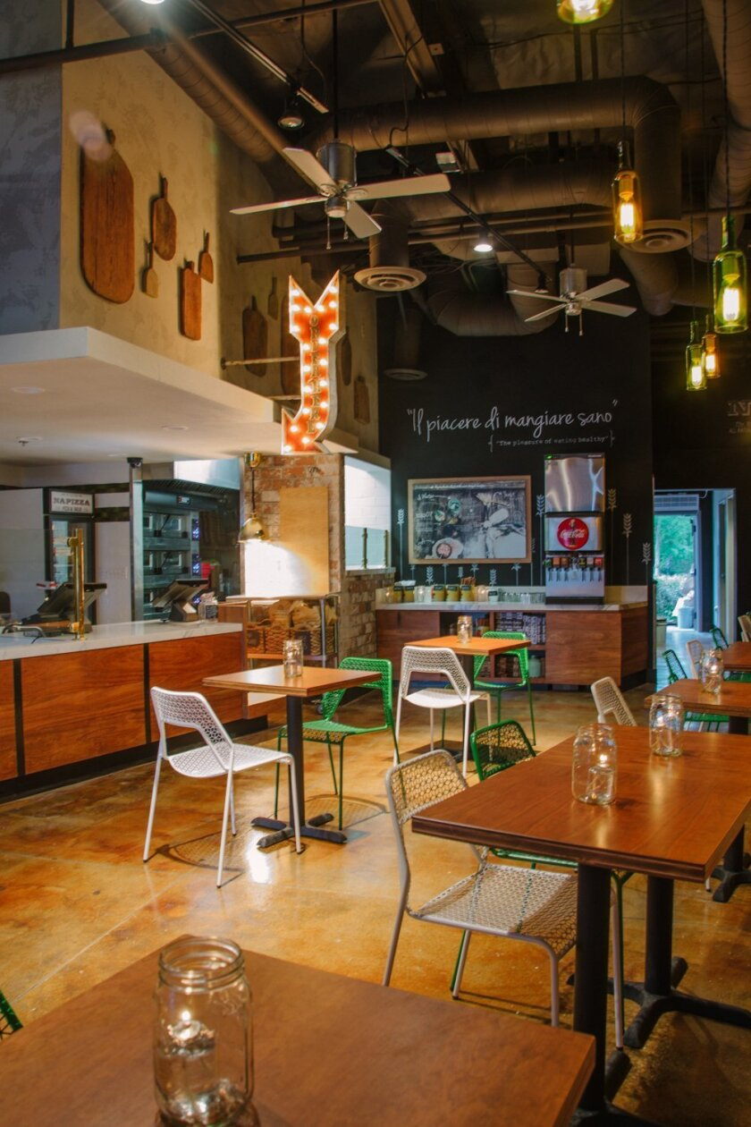 The interior of the newly opened Napizza restaurant in 4S Ranch.