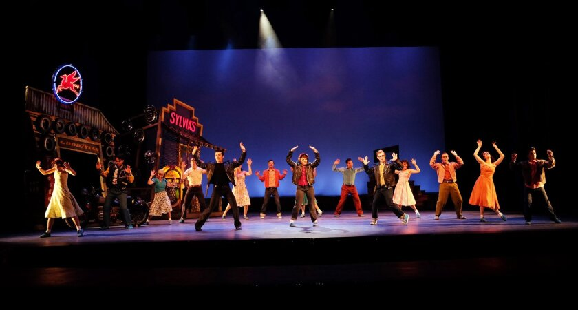 "The company of Moonlight Stage Productions' ""All Shook Up."""