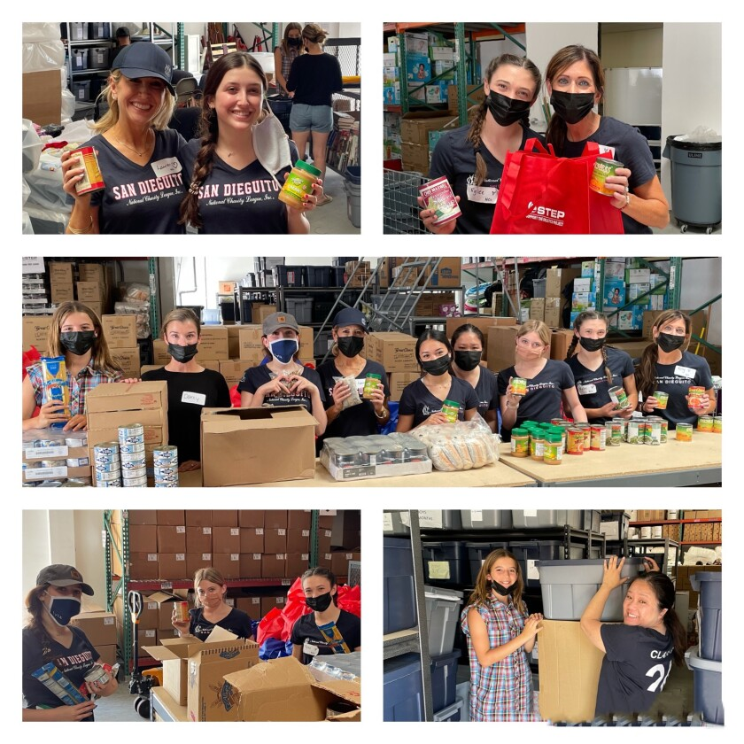 San Dieguito Chapter mother-daughter teams volunteer each year in numerous ways to help others.
