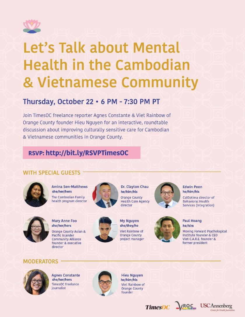 mental health roundtable discussion flyer