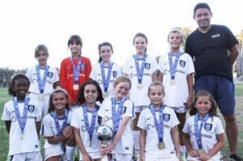 The Surf Girls U10 Academy (Madrigal) team emerged as Flight 2 champions after going undefeated at the 10th annual West Coast Futbal Classic.