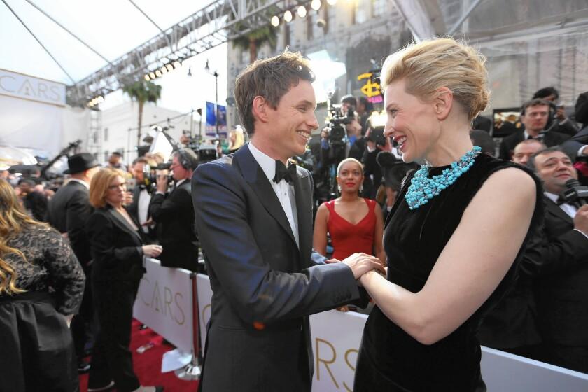 Eddie Redmayne and Cate Blanchett