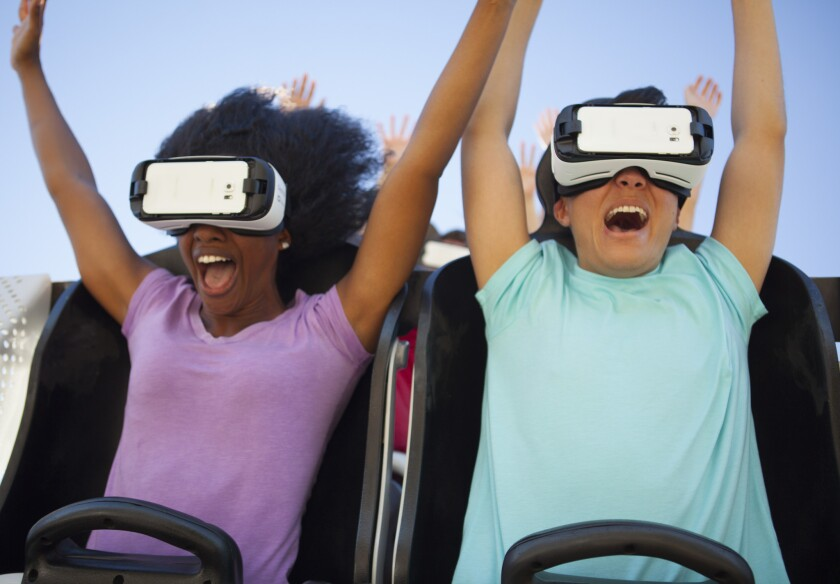 Six Flags plans to add virtual reality goggles to its roller coasters at nine parks across the country, including Six Flags Magic Mountain in Valencia.