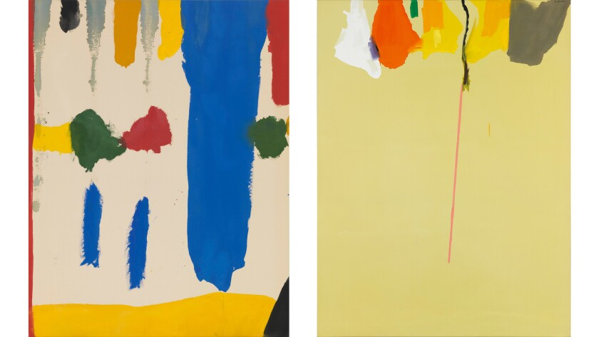 """From left: """"Parade,"""" 1965, and """"Rapunzel,"""" 1974."""