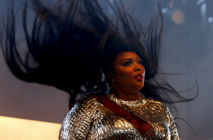 Lizzo performs at the 2019 Coachella festival in Indio, Calif. (Luis Sinco / Los Angeles Times)
