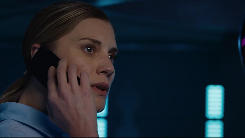 "Katee Sackhoff in the movie ""2036 Origin Unknown."""