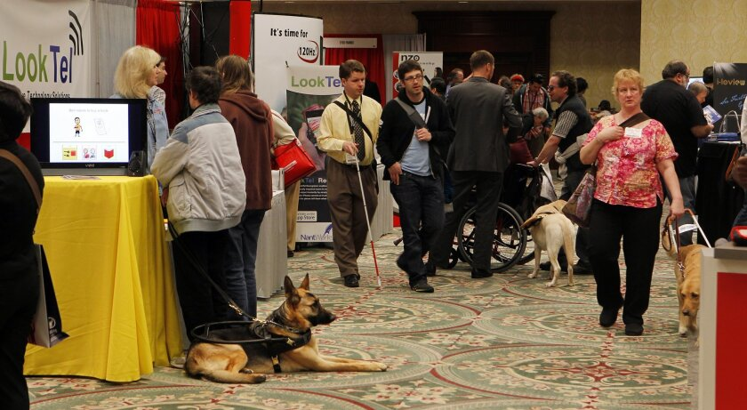 The 27th annual International Technology & Persons with Disabilities conference was held last week at the Manchester Grand Hyatt hotel in downtown San Diego. About 5,000 people attended the show, which is put on by California State University Northridge's Center on Disabilities.