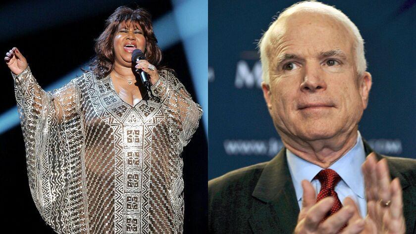 epa01248434 US Senator and Republican presidential candidate John McCain applauds as he is introduce