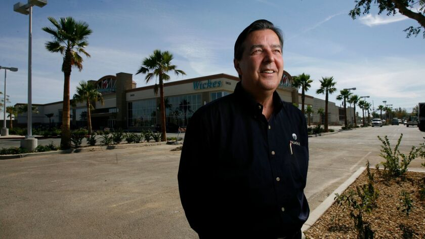 Palmdale Mayor Jim Ledford is behind the effort to bring upscale businesses to the city. The very, m