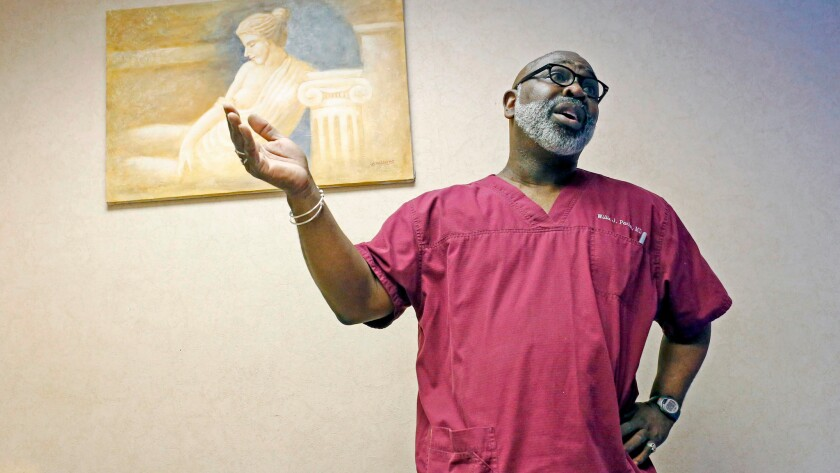 Dr. Willie Parker recently relocated from Illinois to Alabama to perform abortions there and in Georgia and Mississippi.