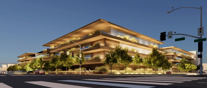 Rendering of proposed Apple Culver City campus