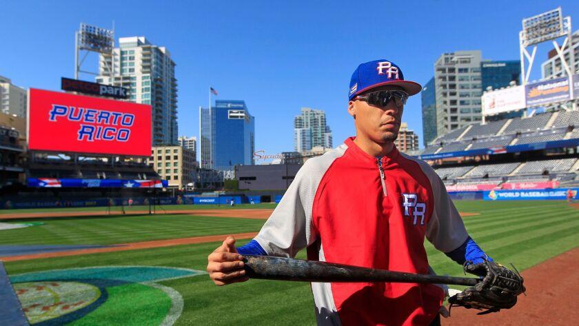 World Baseball Classic in San Diego: Javier Baez.
