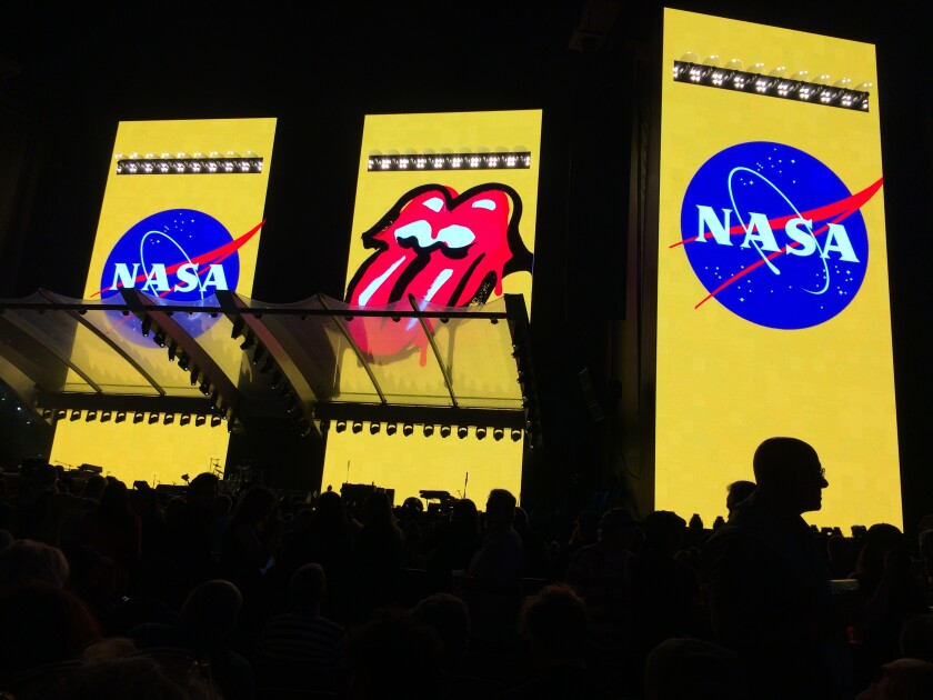 The Rolling Stones' sold-out Thursday concert at the Rose Bowl was preceded by an announcement that NASA has named a stone on Mars after the world's most famous still-active rock band