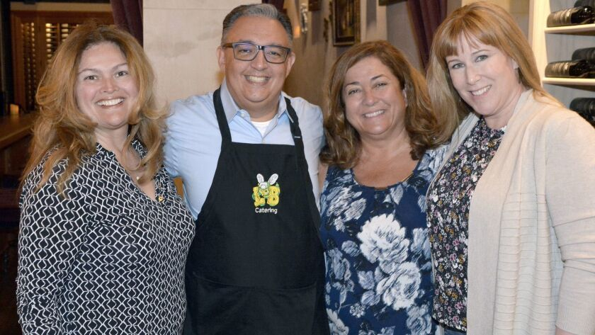 Welcoming supporters to last week kick off mixer to support the Burbank Educational Foundation are A