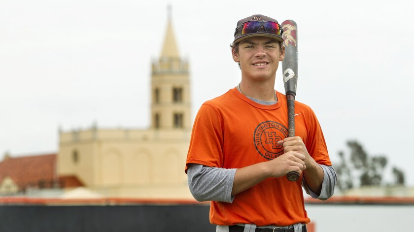 Huntington Beach High baseball player Nick Pratto is the Daily Pilot High School Male Athlete of the Week.