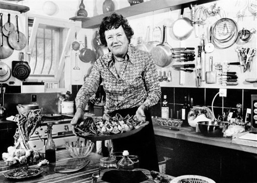 American television chef Julia Child, pictured in southern France in 1978, was an inspiration to several of the U-T Superdiners. ASSOCIATED PRESS