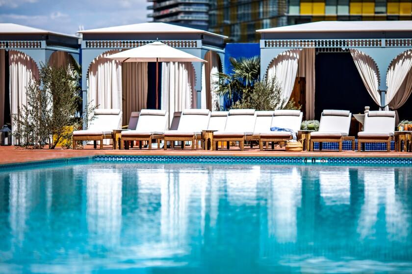 The sexy, Moorish-inspired pool at NoMad Las Vegas.
