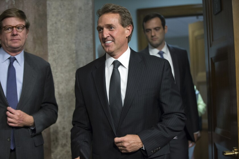 Sen. Jeff Flake (R-Ariz.) has announced that he will not vote in favor of the Iran nuclear deal.