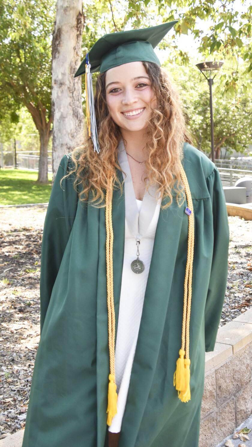 Poway High's 2021 valedictorian Kelly Couvrette.