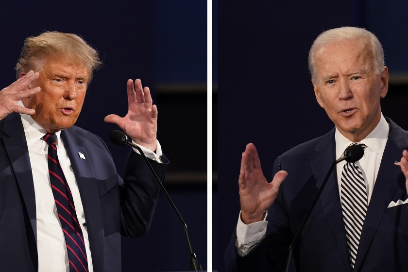 First debate: Biden holds off Trump in battle of insults - Los Angeles Times